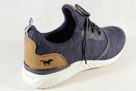 Mustang Slipper Schnürschuhe Sneakers Halbschuhe Sportschuhe blau 4132 NEU - Vorschau 4