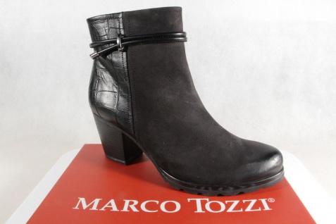 Marco Tozzi schwarz, Stiefelette Stiefel, schwarz, Tozzi Leder 25454 NEU!! 8cd77f