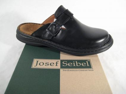 Josef Seibel Clogs Madrid Pantolette Pantoletten 10122 schwarz Leder NEU