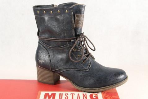 Mustang Stiefel Stiefeletten Schnürstiefel Boots navy/ blau 1197 NEU!
