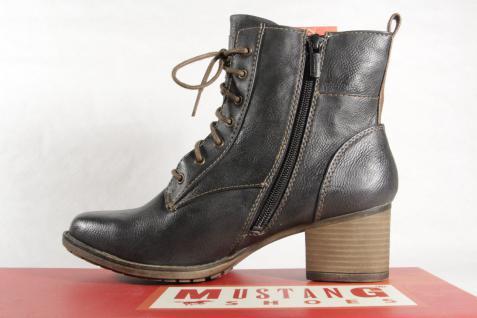 Mustang Stiefel Stiefeletten grau Schnürstiefel Stiefel grau Stiefeletten 1197 NEU! 8614ab