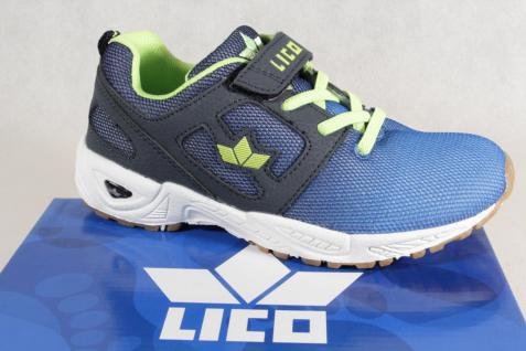 Lico Jungen Sportschuhe Halbschuhe Schnürschuhe Sneakers blau/ grün NEU!
