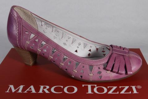 Marco Tozzi Pumps, weiche Slipper, Trotteur violett Leder weiche Pumps, Innensohle NEU! 847c0d