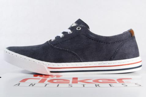 Rieker Herren Schnürschuh, Sneaker, Halbschuh Textil Textil Halbschuh blau NEU Beliebte Schuhe 894452