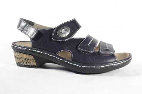 Rieker Damen Sandale Einlagen Sandalette blau, für lose Einlagen Sandale geeignet, NEU!! 951780