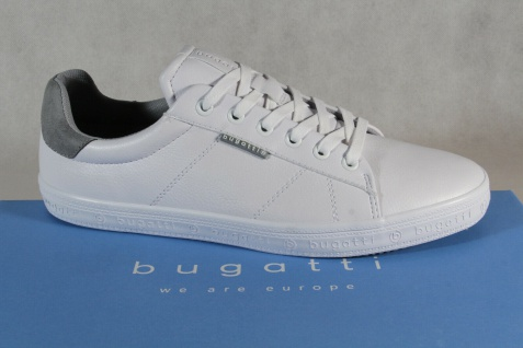 Bugatti Sneaker Halbschuhe Sportschuhe Slipper weiß 71902 NEU!
