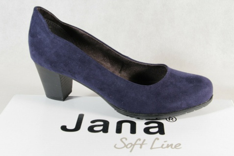 Soft Line by Jana Damen Pumps Ballerina Slipper blau Weite H NEU!