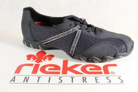 Rieker Damen Schnürschuhe Halbschuhe Sneakers Sportschuhe blau 49020 NEU!