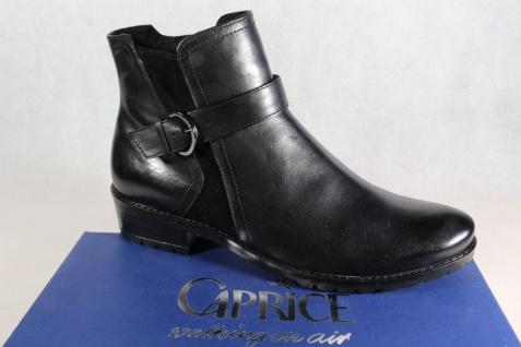 Caprice Stiefel Stiefeletten Boots Winterstiefel schwarz Leder 25418 NEU