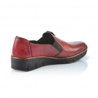Rieker Damen Slipper 53754 Halbschuhe, Sneakers Leder weinrot 53754 Slipper NEU! 9aaa3f