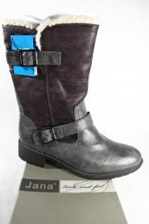 Jana Tex Stiefel, Winterstiefel, Boots grau, Warmfutter; Profilsohle RV26441 NEU