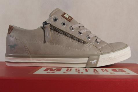 Mustang Schnürschuh Sneaker 1146 Halbschuh beige, RV Gummisohle 1146 Sneaker NEU 867874