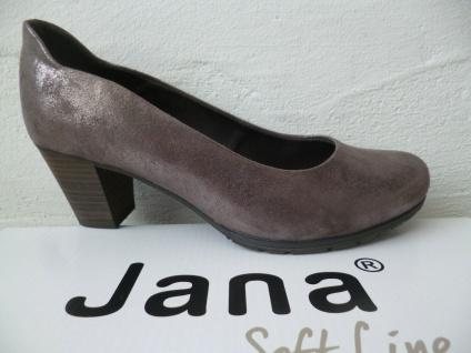 Soft Line by Jana Damen Pumps Slipper Ballerina grau metallic Weite H NEU!