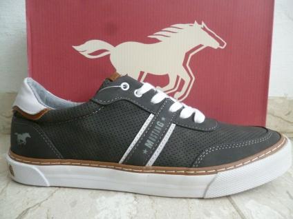 Mustang Herren Sneakers Sneaker Sportschuhe Schnürschuhe grau 4163 NEU