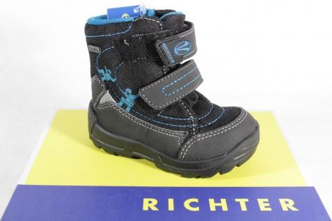 Richter LL-Stiefel Boots Winterstiefel schwarz/ blau gefüttert 2032 Neu !