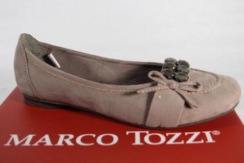 Marco Tozzi Ballerina Slipper Pumps NEU!! pfeffer, mit weicher Innenlaufsohle NEU!! Pumps a5be8f