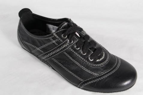 Marco Tozzi Schnürschuh NEU! Sneakers Halbschuhe Echtleder schwarz NEU! Schnürschuh 3b03a6