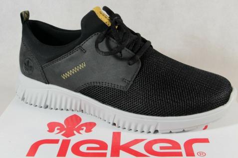 Rieker Herren Slipper Sneakers Halbschuhe Schnürschuhe B7571 schwarz NEU!!