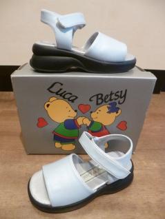 Luca & Betsy Mädchen Sandalen Sandaletten hellblau, NEU!!