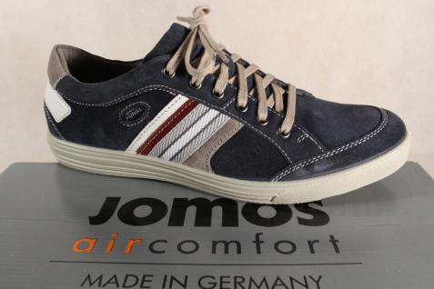 Jomos Herren Schnürschuhe Sneaker 314304 Sneakers Halbschuhe blau Leder NEU