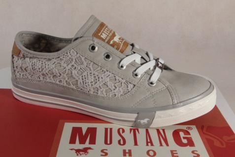 Mustang Schnürschuhe Sneakers Sportschuhe Halbschuhe 1146 hellgrau NEU