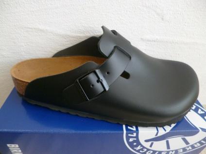Birkenstock Boston Clogs Pantolette Black Echtleder 60191 NEU!