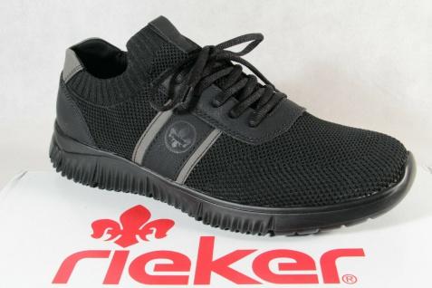 Rieker Herren Slipper Sneakers Halbschuhe Schnürschuhe B7570 schwarz NEU!!