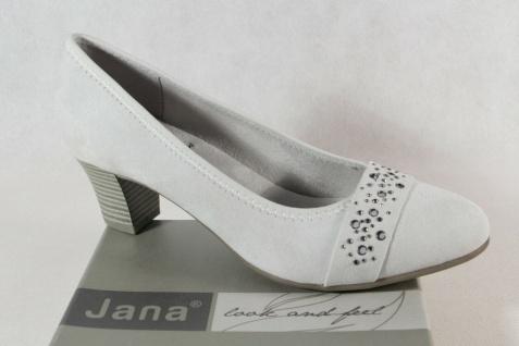 Jana Damen Pumps Soft Line Slipper Ballerina hellgrau Weite H NEU!