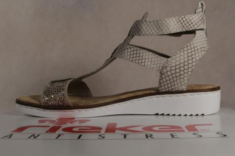 Rieker weiche Damen Sandalen Sandaletten beige/multi weiche Rieker Innensohle KV 63661 NEU!! bddcfc