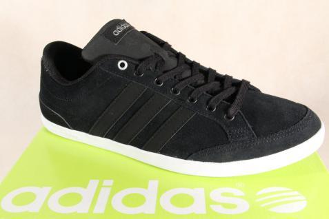 Adidas Schnürschuhe Sneakers Halbschuhe Sportschuhe CAFLAIRE Leder schwarz NEU!