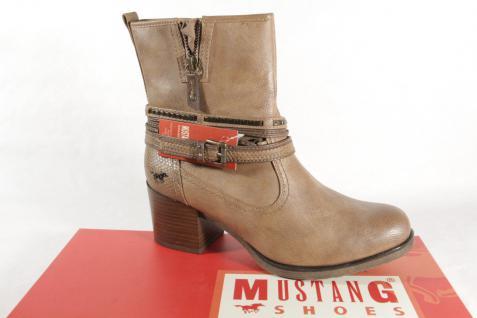 Mustang 1231 Stiefel Stiefeletten Boots mit Reißverschluss, braun NEU