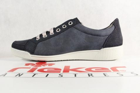Rieker Damen Schnürschuhe, Halbschuhe, blau, Sneakers, blau, Halbschuhe, NEU! a803d1