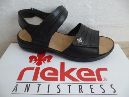 Rieker Damen 64560 schwarz Sandale Sandalette schwarz 64560 Leder NEU!! 75a61c