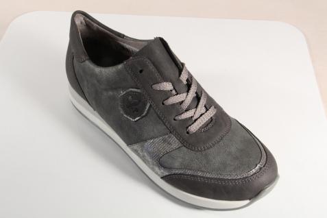 Rieker Sneaker N1823 Damen Schnürschuhe, Halbschuhe, Sneaker Rieker grau NEU! 01f36e