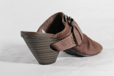 Damen Pantolette Pantoffel braun, NEU! NEU! NEU! 91380c