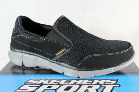 Skechers Herren Slipper Sneakers Halbschuhe Sportschuhe schwarz NEU!