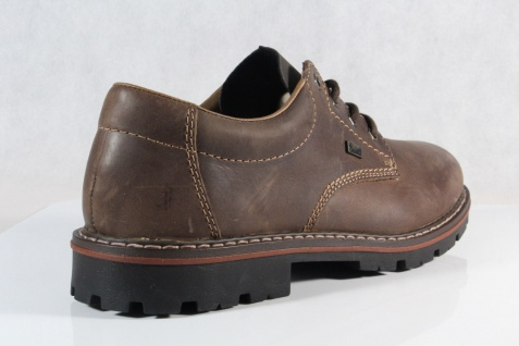 Rieker Herren Schnürschuhe, Halbschuhe Sneakers braun Leder TEX 17712 NEU! - Vorschau 4