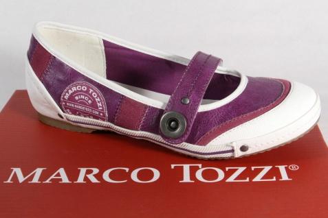 Marco Slippers Tozzi Ballerinas Slippers Marco Kunstleder lila/weiss NEU! 5761cb