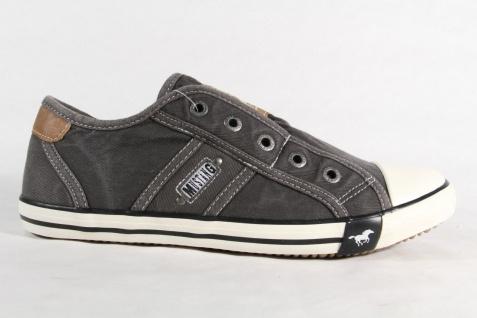 Mustang grau/schwarz Slipper Sneakers Sportschuhe Halbschuhe grau/schwarz Mustang Leinen 1099 NEU f26810