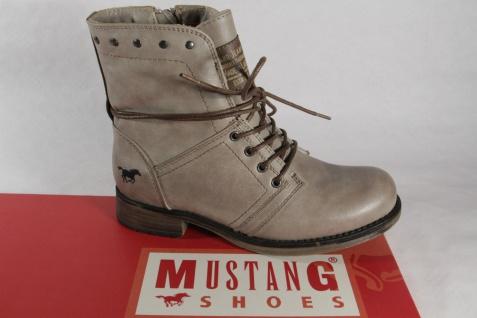 Mustang Mädchen Stiefel, Stiefelette, Boots, Winterstiefel, taupe, gefüttert NEU