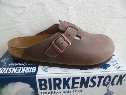 Birkenstock Pantoletten Clogs Pantoletten Birkenstock Sabot braun Lederinnensohle Neu!! e8c501
