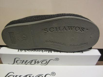 Schawos Herren Hausschuh Hausschuhe mit Klettverschluss, schwarz 6062 NEU!!