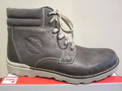 Rieker Stiefel zum Schnüren, grau, Leder, warm Schuhe gefüttert, NEU Beliebte Schuhe warm 4d820d