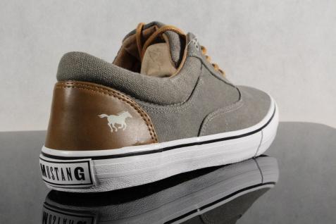 Mustang Schnürschuhe Sneaker NEU! Halbschuhe khaki Stoff Textil NEU! Sneaker a7c947