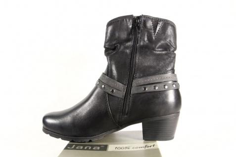 Jana Damen Stiefel, schwarz Stiefeletten, Stiefel Winterstiefel Leder schwarz Stiefel, 25335 NEU 8416e9