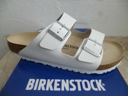 Birkenstock Pantoletten Arizona Pantolette Sandalen Hausschuhe weiß 051131 NEU