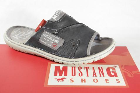 Mustang Herren grau Pantolette Pantoletten Clogs Hausschuhe grau Herren NEU!! e4a386