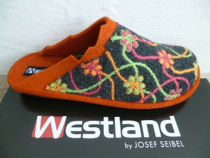 Westland by Seibel Damen Pantoffeln Hausschuh Hausschuhe bunt Filzstoff NEU!!