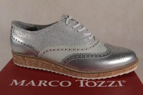Marco silber Tozzi Schnürschuhe Sneakers Halbschuhe silber Marco 23726 NEU! 11be1f