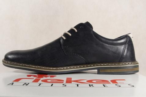 Rieker blau Herren Schnürschuhe, Halbschuhe Sneakers blau Rieker 14520 NEU! 3001f7